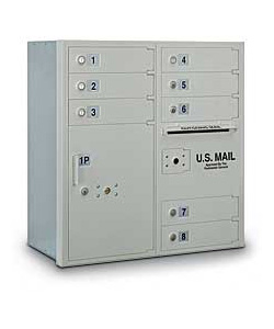 8 Door 4C Mailbox with Parcel Locker